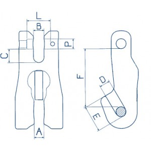 SHORTENING CLUTCH Dimensioned drawing 2D