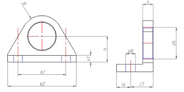 HP 72 Flanges Dimensional drawing 2D