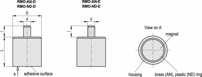 RMO-AN-6-3-D Dimensioned drawing 2D