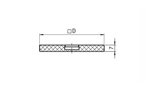 Anti-slip Plate for Square Swivel Feet Parameter drawing 2D