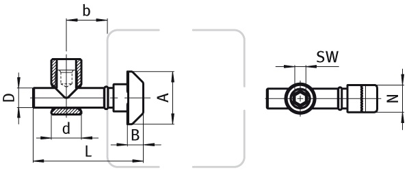 Central Connector Steel Parameter drawing 2D