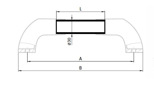 System Handle, End Pieces for System Handle Parameter drawing 2D