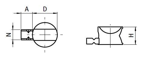 Universal Connector Die-cast Zinc Manufacturer 2D