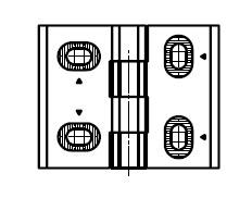 2D Hinge, Non-detachable Parameter drawing: 095014 2D