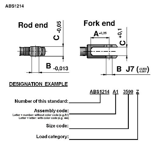 Tie Rods ABS1214 Dimension Drawing 2D