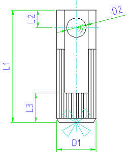 EH 22140.0008 Lateral Spring Plungers Parameter drawing 2D