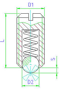EH 22040.0006 Spring Plungers Parameter drawing 2D