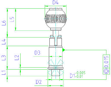 EH 22130.0060 Precision Index Plungers, with cylindrical pin, with locking Parameter drawing 2D