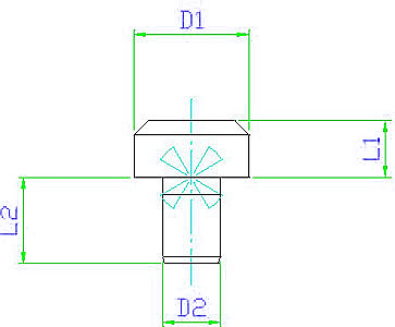 EH 22630.0011 Seating Pins DIN 6321, form A, short Parameter drawing 2D