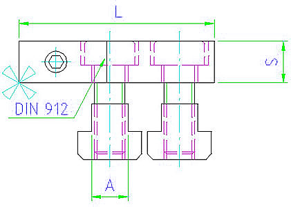 EH 23300.0012 Low height clamps Parameter drawing 2D