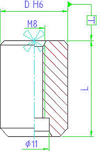 EH 23110.0510  Centering Pins Parameter drawing 2D