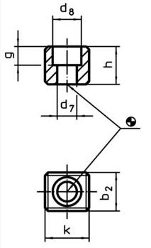 EH 23100.0030 Drive Blocks, DIN 2079, form A Parameter drawing 2D