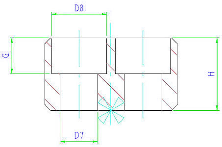 EH 23100.0160 Drive Blocks, DIN 2079, form B Parameter drawing 2D