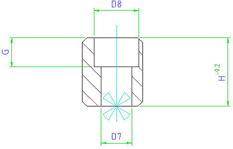 EH 23100.0230 Drive Blocks, DIN 2079, form C Parameter drawing 2D