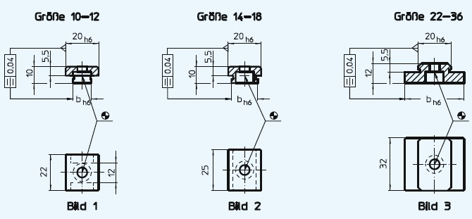 EH 23110.0022 Fixed Slot Tenons, size 22-36 Parameter drawing 2D
