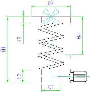 EH 23200.0010 Support Elements for clamps Parameter drawing 2D