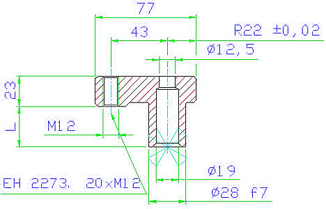 EH 23770.0031 Clamping Elements Parameter drawing 2D