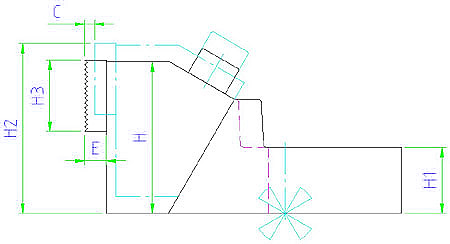 EH 23240.0012 Stabilizing Clamping Jaws Parameter drawing 2D