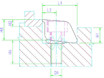 EH 23290.0062 Pitbull® Clamps with blunt edged Parameter drawing 2D