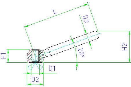 EH 24470.0506 Clamping Nuts, welded Parameter drawing 2D