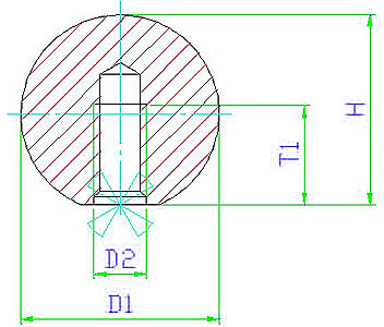 EH 24560.0016 Ball Knobs, DIN 319, with moulded material thread, form C Parameter drawing 2D