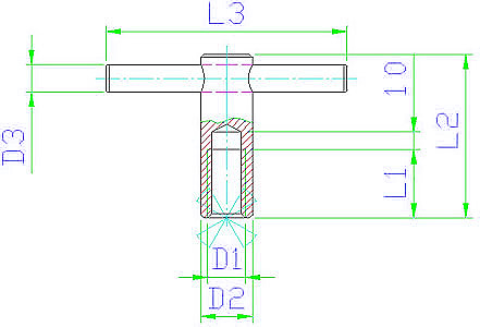 EH 24510.0508 Tommy Nuts, DIN 6305, pin pressed in Parameter drawing 2D