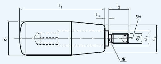 EH 24530.0008 Cylindrical Handles, rotating Parameter drawing 2D