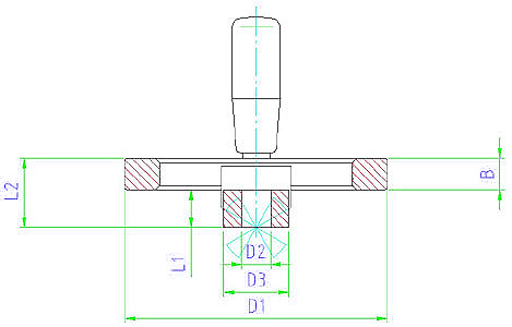 EH 24610.0211 Spoked Handwheels Parameter drawing 2D