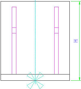 EH 1910.020 Clamping Angles, welded, one-sided, semi-finished Parameter drawing 2D
