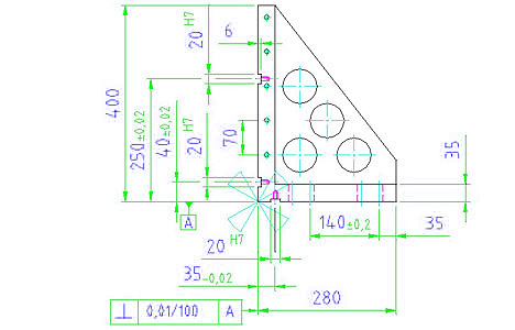 EH 1105.200 Clamping Angles Parameter drawing 2D
