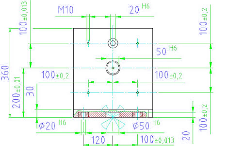 EH 1076.400 Clamping Angle Parameter drawing 2D