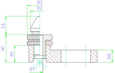 EH 1163.000 Adjustable Drilling Support Parameter drawing 2D