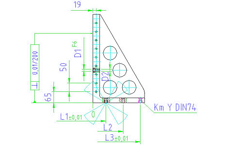 EH 1505.200 Clamping Angle Parameter drawing 2D