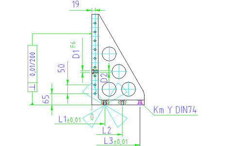 EH 1605.200 Clamping Angle Parameter drawing 2D
