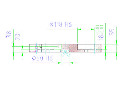 EH 1990.120 Base Plate for 2 connecting elements Parameter drawing 2D