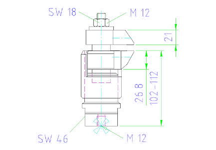 EH 23320.012 Floating Clamps Parameter drawing 2D
