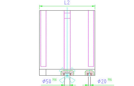 EH 1910.120 Clamping Angle, Welded, Semi Finished Parameter drawing 2D