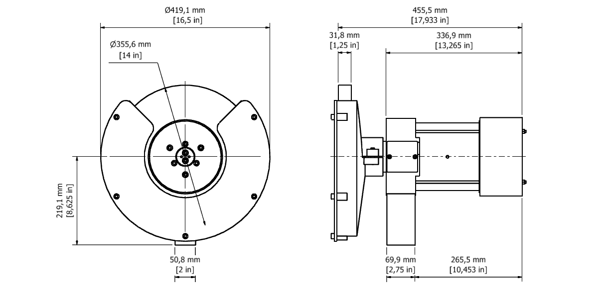 D 72 TPG Spindle Dimensional drawing 2D