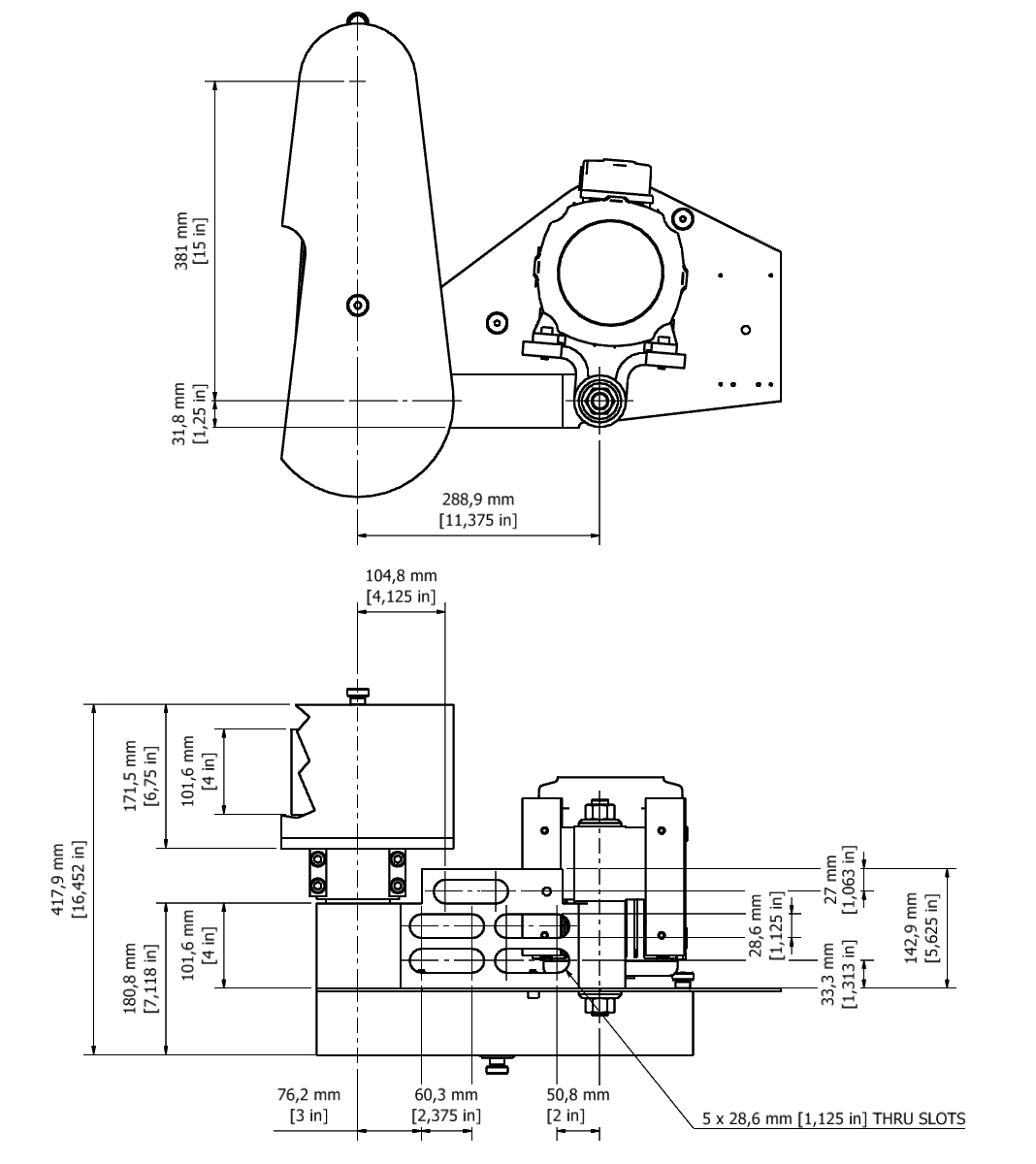 D 804F TPG Spindle Dimensional drawing 2D