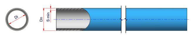 Niron OB-FG Oxygen barrier PPR Pipe - SDR 7.4 - S 5 (PN 16) Dimensioned drawing 2D