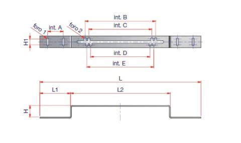 Mounting Unit Dimensioned drawing 2D