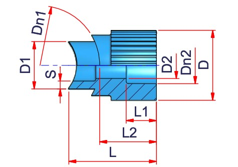 Welding Saddle (type A) Dimensioned drawing 2D