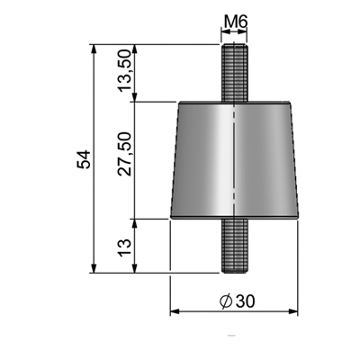 Insulator (M6) Technical picture 2D
