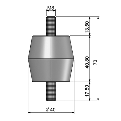 Insulator (M8) Technical picture 2D