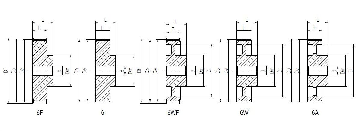 18 XH 400-6F Dimensioned drawing 2D