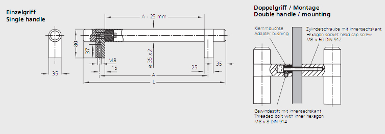 Handle Serie TL.U3 Diagram 2D