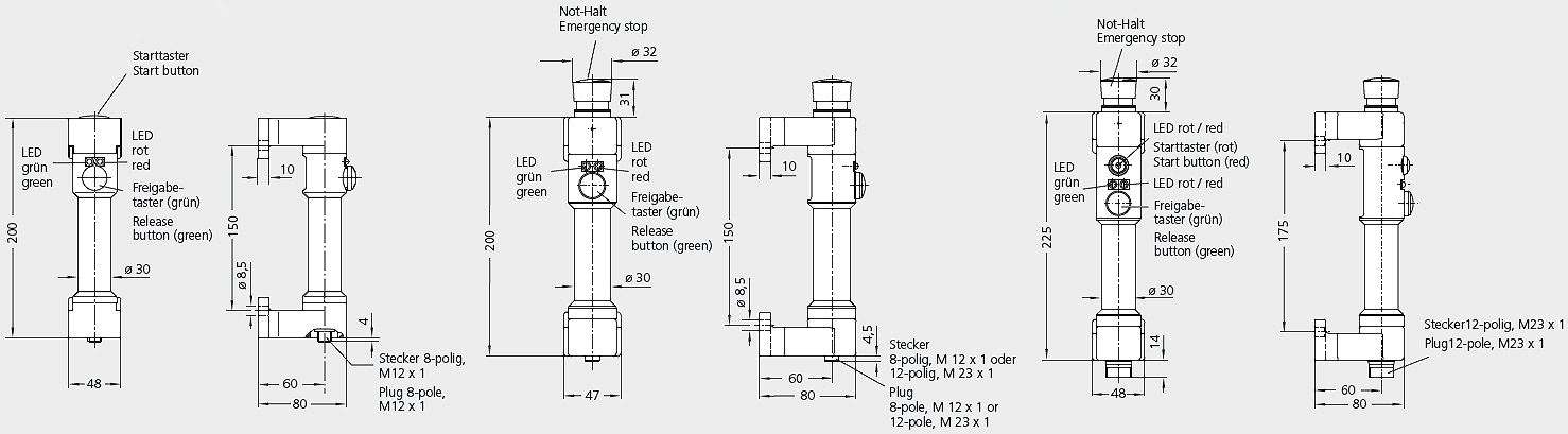 Handles with functions, Handle series FG3 Diagram 2D