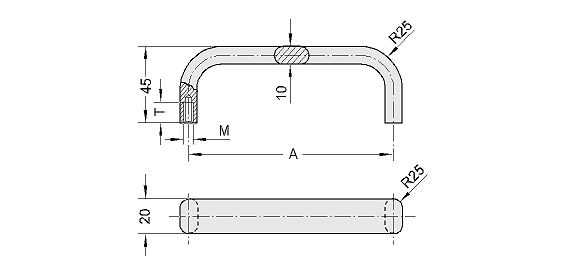 Clean Line, handle serie MF Diagram 2D