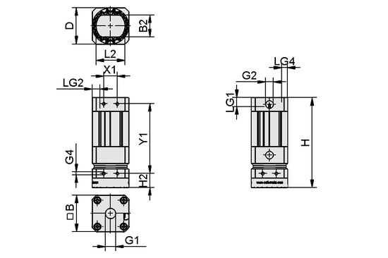 Magnetic Grippers SGM-HP/-HT with high holding force Dimensional drawing 16.01.01.02641_SGM-HP 2D