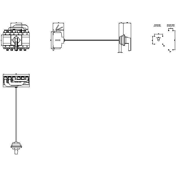 Front/4-hole mounting with door-coupl. rot. operating mechanism control element G_I202_XX_32906 2D